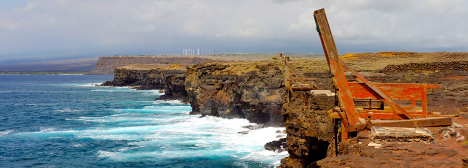 Diving platform at South Point on the Big Island of Hawaii